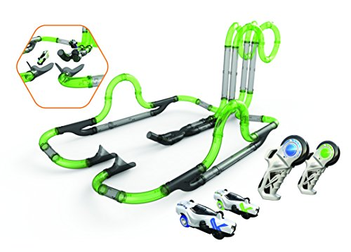 Silverlit-Twin Tower Racing Set-57Tubos Circuito modulables-2Coches, 20234, Verde