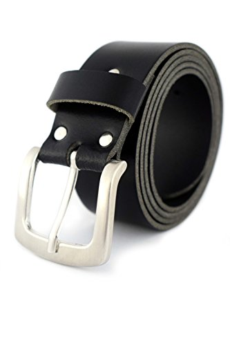 SG Belts PREMIUM Ledergürtel schwarz 4 cm breit AUS EINEM STÜCK LEDER = 100% echtes Leder - Ledergürtel Herren, Damen - Herrengürtel, Damengürtel - Gürtel bis 135 cm - 100% Echtes Leder