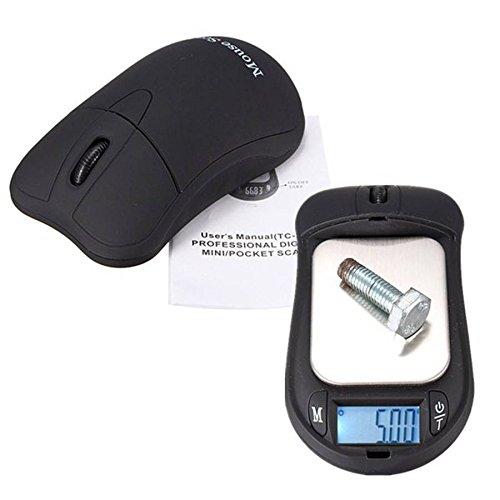 ELEGIANT Sem Fio Mini Ponteiro Do Rato, Função Mouse Sem Fio-Digital Escala com Tela de LCD com Balança Eletrônica pesa 200 Jóias g Precisão: 0,01 g