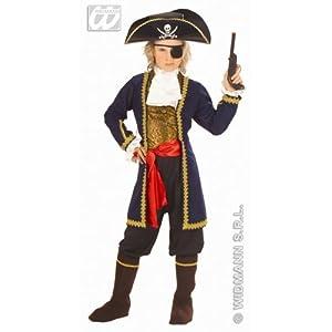 WIDMANN wdm55606?Disfraz para niños pirata de los 7peces (128cm/5?7años), multicolor, XXS