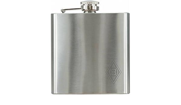MagiDeal Edelstahl Flachmann Taschenflasche mit Schraubverschlussdeckel Silber