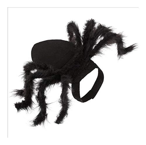 Jadeyuan Kostüm Haustier Spinne Kostüm Halloween Haustier Spinne Kleidung Hund Katze Simulation Plüsch Spinnen Dress Up Bekleidung (Spinne Kostüm Katze)
