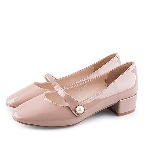 Automne,Fashion,Talons Rugueux/Chaussure De Talon De La Bouche Peu Profonde/Ladies Mince Chaussures B