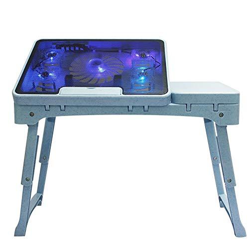 JKL- Notebookständer Multifunktions-Faltbare Laptop-Tabelle Portable mit 5 Ventilatoren Lap Desk...