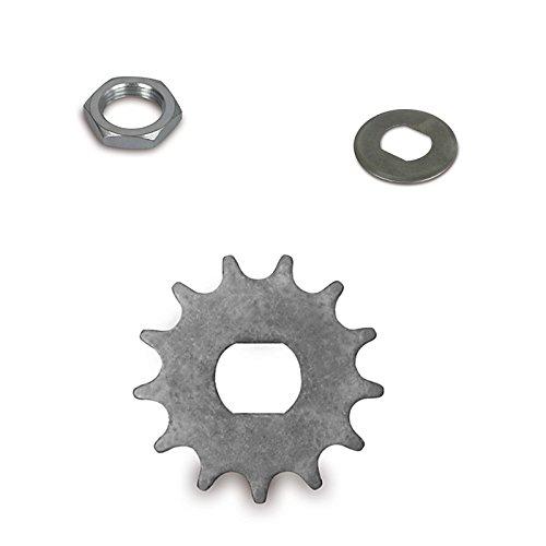 SET: Ritzel 13 Zahn + flache Mutter + Sicherungsblech für Simson S51 SR50 SR80 KR51-2 Schwalbe