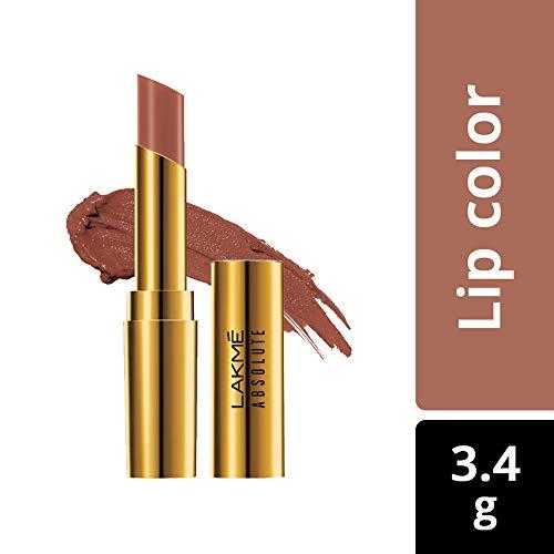 Lakme Absolute Argan Oil Lip Color, 18 Soft Beige, 3.4g