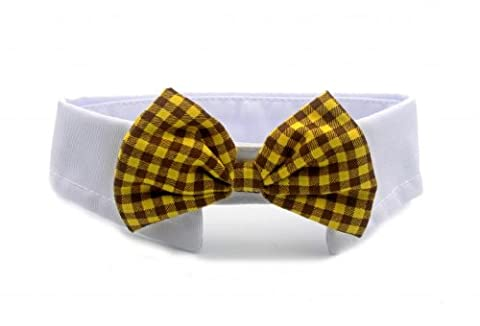 Namsan Dog Cat Puppy Pet Bow Tie Neck Tie Collar England Style 6 Colors -Yellow