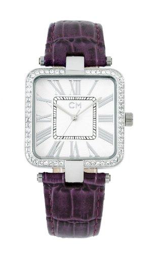 Carlo Monti CM505-110 - Reloj analógico de mujer de cuarzo con correa de piel lila - sumergible a 30 metros