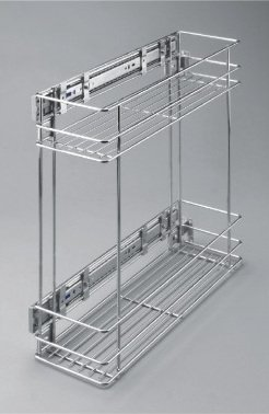 Side Mounting Soft Close Pull Out Wire Cargo Basket
