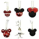 Disney Minnie Micky Dekoration Kugeln Pack 4/6 - Rot - 6 Packung, Einheitsgröße