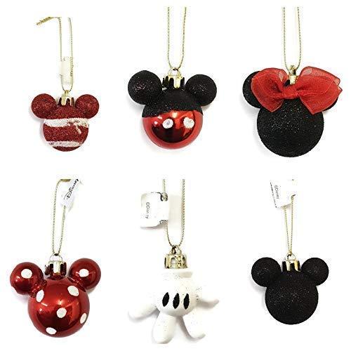 Disney Minnie Mickey Decoración Bolas Pack DE 4/6 - Rojo - Paquete de 6, One Size