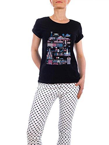 """Design T-Shirt Frauen Earth Positive """"Berlin-Prenzlauer Berg"""" - stylisches Shirt Städte Städte / Berlin von Marius Rehmet Schwarz"""