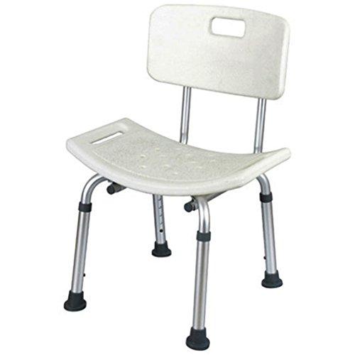 Aluminium Duschhocker mit Rückenlehne Duschstuhl Badsitz Duschhilfe Duschsitz Höhenverstellbar Medizinische Badewanne Badehocker