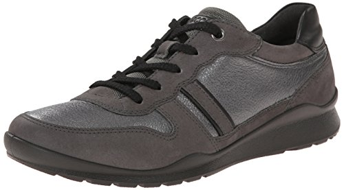 ECCO MOBILE III Damen Derby Schn眉rhalbschuhe Silber (DARKSHADOW/D.SHADOWMET./BLACK 59268)