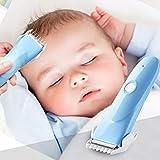 Baby Haarschneider Ruhig Schnurloser Haarscherer USB Wiederaufladbare Haartrimmer mit 2 Verstellbaren Haarkamm für Baby Kinder