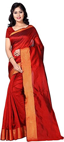 Vimalnath Synthetics Solid Fashion Cotton Saree.
