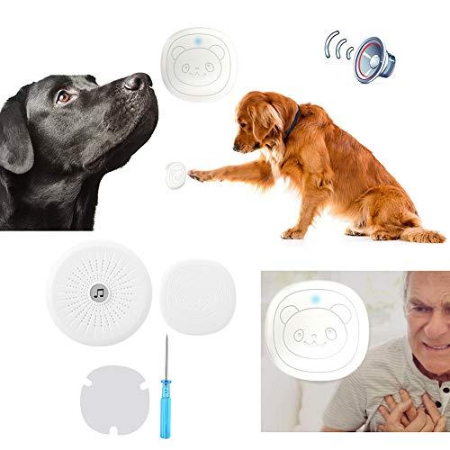 Campana de Puerta para Perro, Timbre inalámbrico para Entrenamiento de Mascotas con llamador SOS IP55 a Prueba de Agua Smart g Potty Timbre de comunicación(EU)