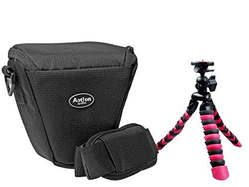 Foto Kamera Tasche ACTION COLT Set mit Flexi Stativ Rollei 100 für Sony Alpha 6300 6000 5100 5000