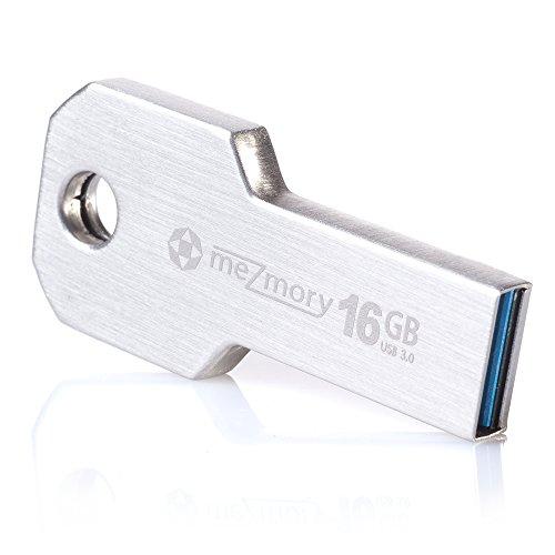 Mini chiavetta usb 3.0 16gb a forma di chiave ** impermeabile & veloce ** estremamente resistente - fabbricata in metallo ( acciaio inox ) ** ideale per portachiavi ** in argento by mezmory ®