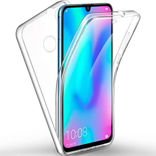 AROYI Huawei P Smart 2019 Hülle 360 Grad Handyhülle, Silikon Crystal Full Schutz Cover [2in1 Separat Hart PC Zurück + Weich TPU Vorderseite] Vorne & Hinten Schutzhülle für Huawei P Smart 2019