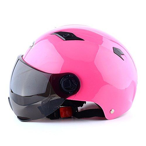 Lidauto Motorrad Reithalbhelme Sommer in der Regel für Männer Frauen,Pink