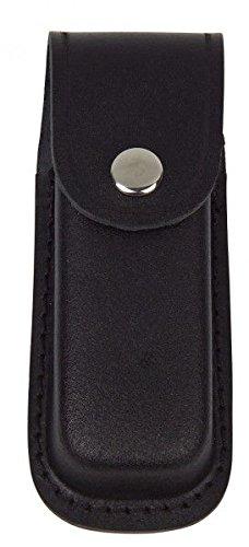 Haller Étui en cuir, noir, 12 - 13 cm