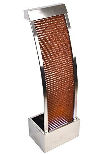 Köhko® Wasserwand Segel-Form aus Cortenstahl Höhe 110 cm mit LED-Beleuchtung Terrassenbrunnen Zimmerbrunnen 32004 - Höhe Form