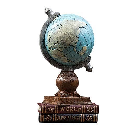 XIAOXI Globe Home Crafts Wohnzimmer Schlafzimmer Büroeinrichtung Weinschränke Weiche Dekorationen Kreative Kleine Ornamente,Blue