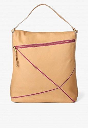 BREE, Borsa a mano donna multicolore nature/pink 32,5 cm x 32 cm x 12,5 cm (B x H x T) nature/pink