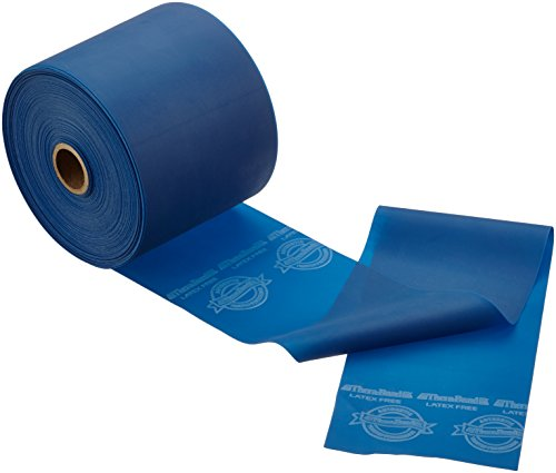 Thera-Band Gymnastikband, Rolle im Spender, extra starker Widerstand, Blau, ohne Latex, 23m (Pack Dispenser Thera-band)