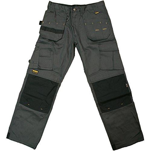 DeWalt - Pantaloni da lavoro da uomo, in tela, professionali Grigio/Nero