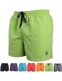 LK B.Hose Shorts de Bain Homme Maillot Short de Jogging Short d'été Eté à Séchage Rapide Multicolore