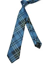 PenSee–Skinny Tie Jacquard tejido de seda Plaids Slim necktie-various colores