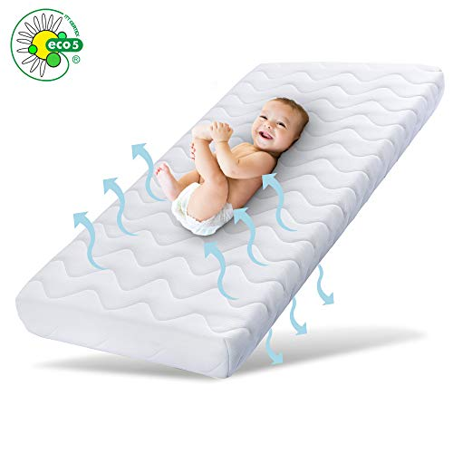 Ehrenkind® Babymatratze Pur | Baby Matratze 70x140 | Kindermatratze 70x140 aus hochwertigem Schaum und Hygienebezug