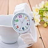 Zxzays Mode Horloge décontractée pour Dames Filles Femmes Bracelet en Silicone...