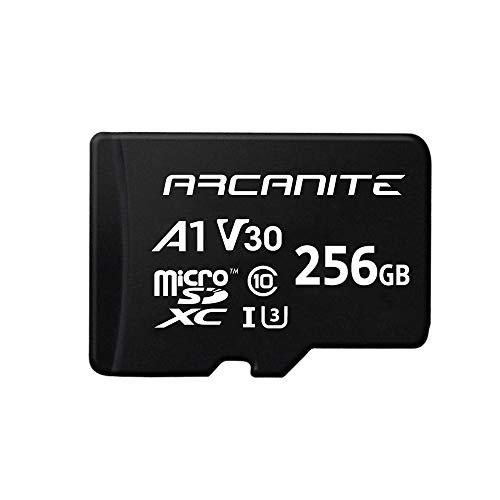 ARCANITE 256 GB microSDXC-Speicherkarte mit Adapter - UHS-I U3, A1, V30, 4K, C10, microSD - AKV30A1256
