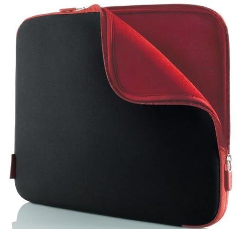 Belkin Neopren-Schutzhülle (für Laptops bis zu 33 cm (14 Zoll) kohlenschwarz/weinrot