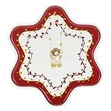 THUN Piatto Piano a Forma di Stella Dolce Natale Multiuso Grande, in Porcellana