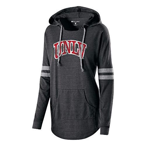 Ouray Sportswear NCAA Damen Kapuzenpullover Low Key, Damen, Women's Hooded Low Key Pullover, Vintage Black/Vintage Grey, Small -