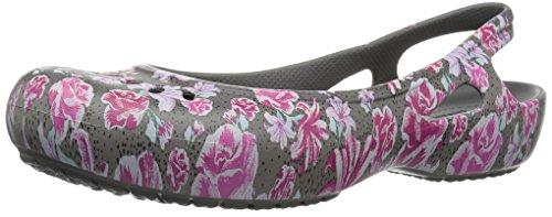 crocs - Frauen Kadee Graphic Slingback, 42.5, Multi Floral/Slate Grey