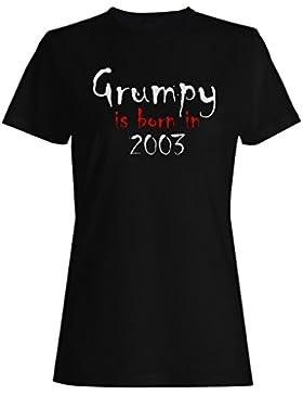 Grumpy nace en 2003 camiseta de las mujeres c260f