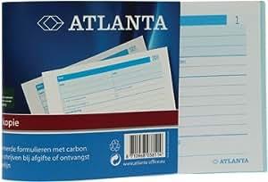 Atlanta carnets à souches numéroté 1-50, 50 feuilles en double, avec carbone Lot de 5Unité(s)
