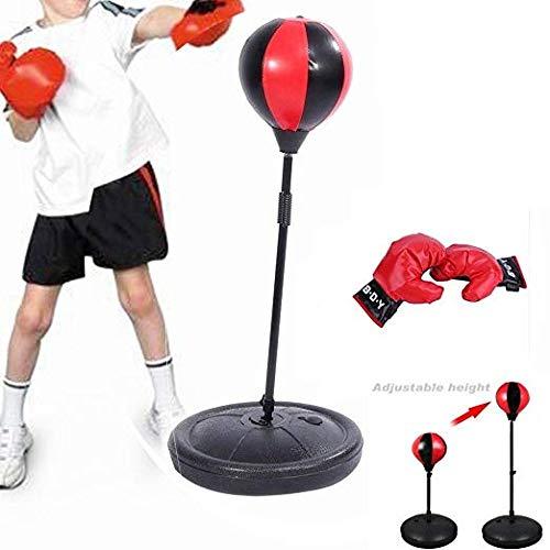 Hehilark höhenverstellbar-Schlag-Kugel entspannt Training Boxsack Boxing Sport Kugel für Kinder-Pump