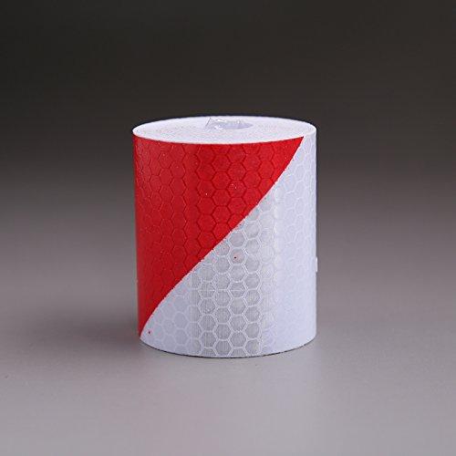 Sedeta Bolange Weiß Rot Twill Reflektierende Warnstreifen Sicherheitszeichen Band Reflektieren das...