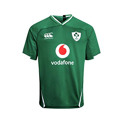 Canterbury of New Zealand Men's Ireland 19/20 Vapodri+ Home Pro Rugby Jersey, Bosphorous, XL - Canterbury Of New Zealand Rugby