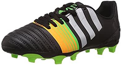adidas Boy's Nitrocharge 40 Fg J Core Black, Silver Metallic and Solar Gold Sports Shoes - 3 UK