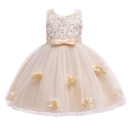 Pingtr Baby Mädchen Prinzessin Kleid,Kleinkind-Baby-Spitze-Blumen-Prinzessin Party Performance Formal Tulle Dress -