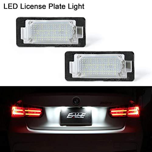 LED-Kennzeichenleuchte, Gempro 2er Pack 18 SMD-LED-Leuchten mit eingebautem CAN-Bus-Widerstand und fehlerfreier, wasserdichter, energiesparender Kennzeichenleuchte Für E82/E88/E90/E60/E61/F07/F10