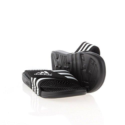 adidas Adissage Größe 7 CBLACK/FTWWHT/CBLACK -
