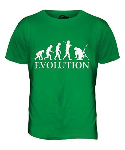 CandyMix Soldato Mortaio Evoluzione Umana T-Shirt da Uomo Maglietta Verde